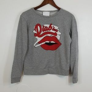 Diab'Less Made in France 100% Cotton Lips Sweater